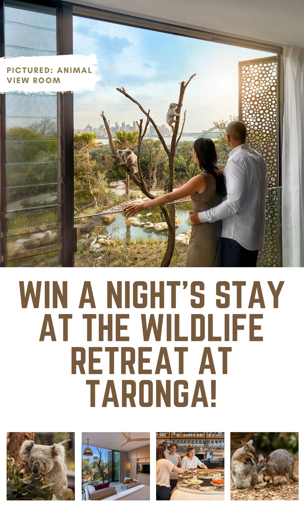 WIN a Night's Stay at The Wildlife Retreat Taronga!