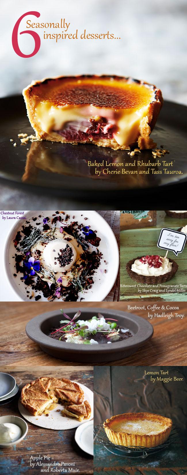 6 Seasonally Inspired Desserts