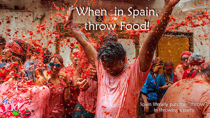 When in Spain, Throw Food!