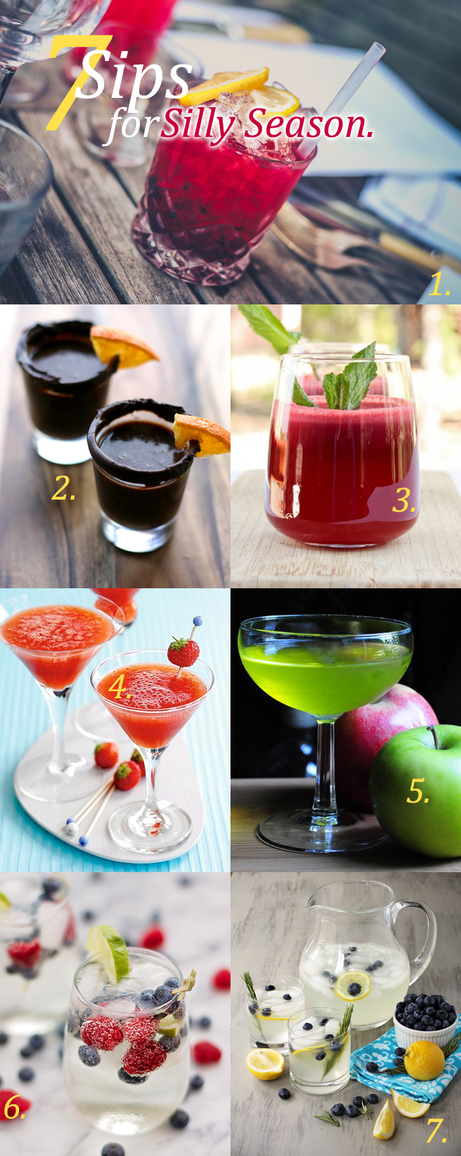 7 Sips for Silly Season