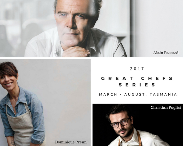 Culinary Legends Unite for Tasmania's 2017 Great Chefs Series
