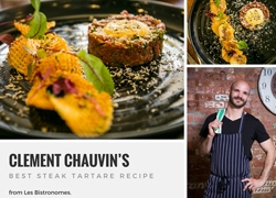Chef Hat Awarded Clement Chauvin's Best Steak Tartare Recipe from Les Bistronomes