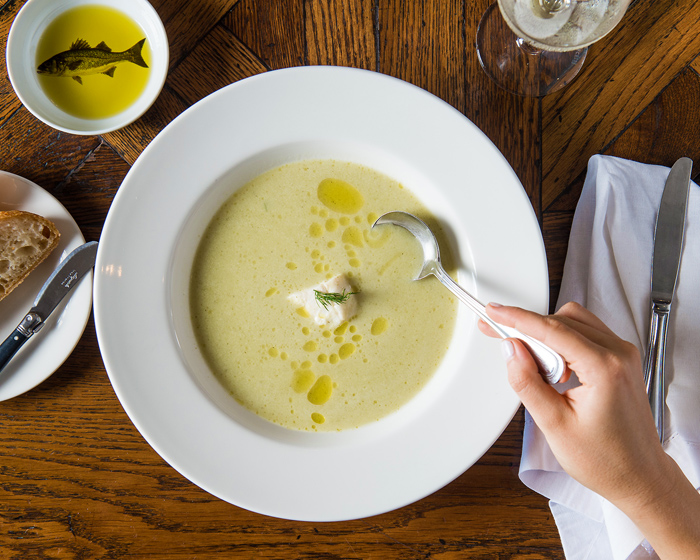 Damien Styles and The Fish House's Lemony Soup