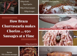 How Braza Churrascaria makes Chorizo ... 950 Sausages at a Time