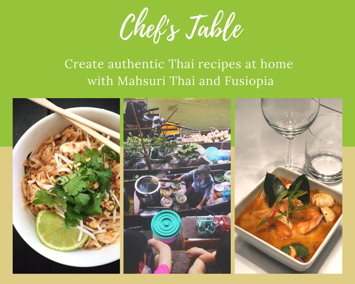 Create Mahsuri Thai's Chicken Pad Thai and Fusiopia's Tom Yum Soup at Home