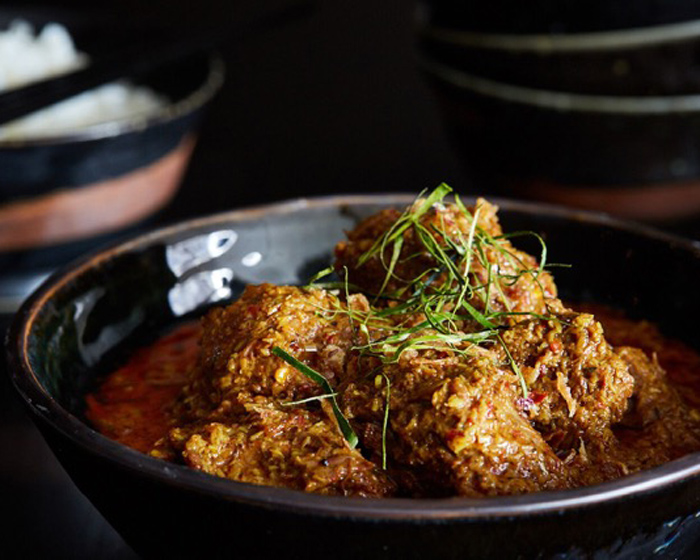 Classic Riesling's Botrytis Touch on a Malaysian Rendang
