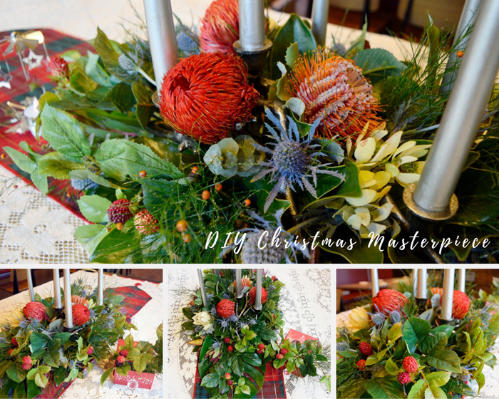 Make Your Own Native Christmas Centrepiece