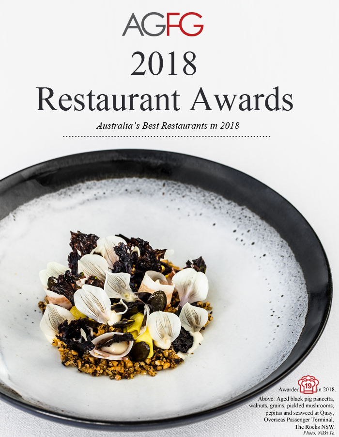 Australia's 2018 Award Winning Restaurants