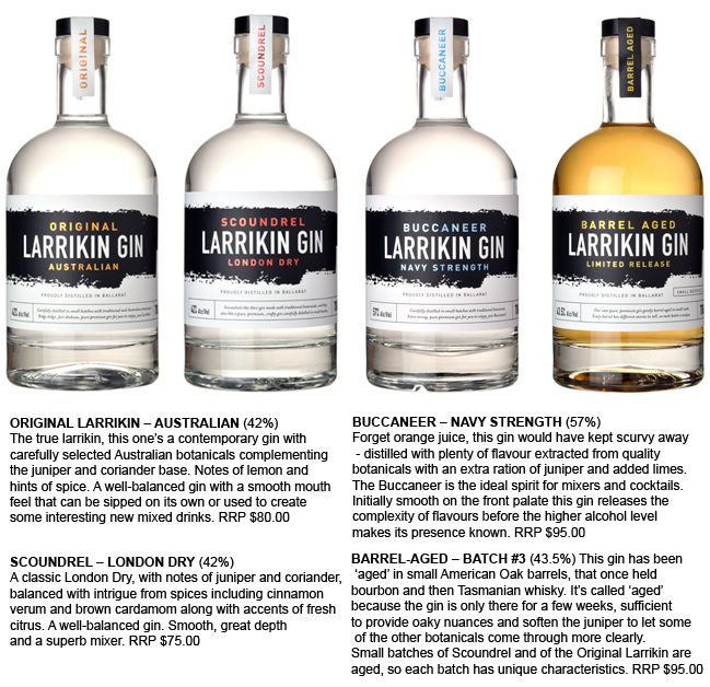 Larrikin Gin imbues the heart of Ballarat and Aussie larrikinism in every drop
