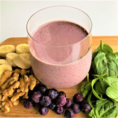 Burst into Breakfast with this Blueberry Smoothie - It's Alimentary!
