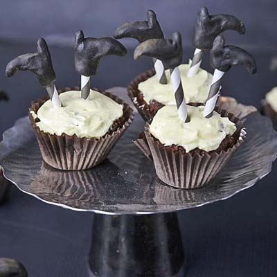 Say Boo and Scary On – Witches Legs Cupcakes for a Ghoulish Halloween Treat.