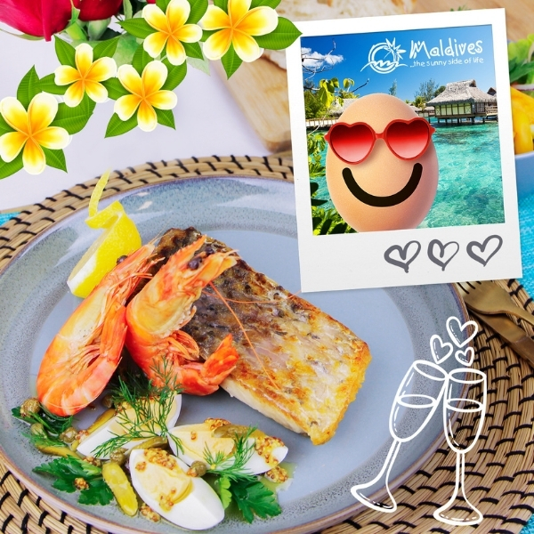 Take Your Valentine to Venice and the Maldives with these Two Egg-xotic Recipes.