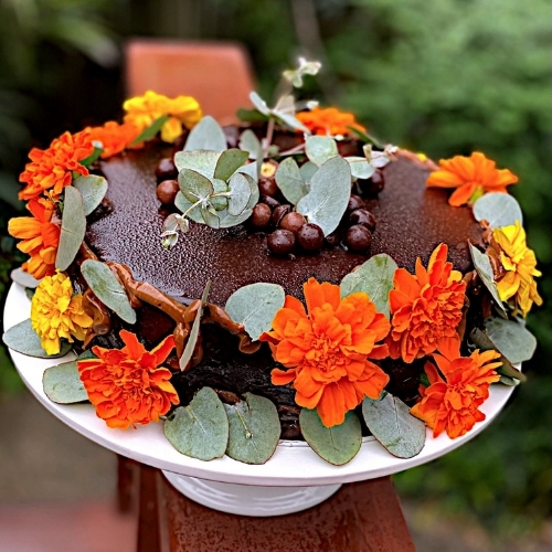 Make a Splash this Easter with Lisa Mead's Nature Themed Dark Chocolate Mud Cake.
