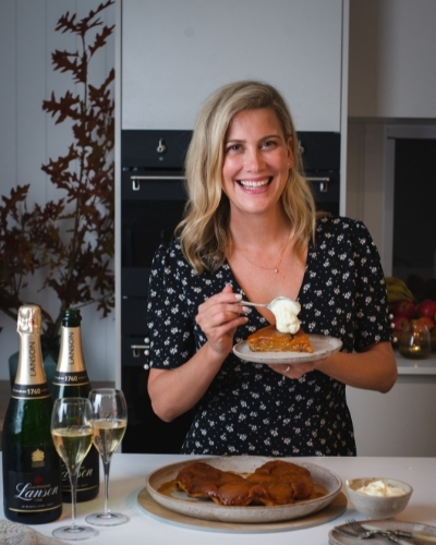 Try This Tarte Tatin by Justine Schofield and Champagne Lanson to Celebrate Bastille Day 2021.