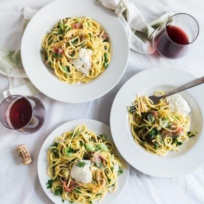 Tortellini in Love with Linguine - Let's Celebrate National Linguine Day.