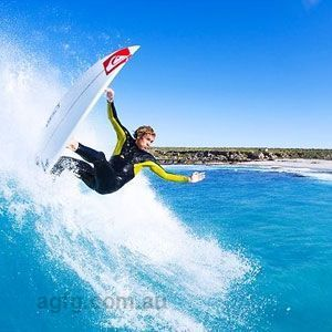 Surfing on Kangaroo Island