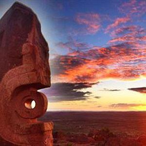 Barrier Ranges Sunset Sculptures