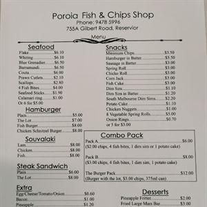 Poroia Fish and Chips