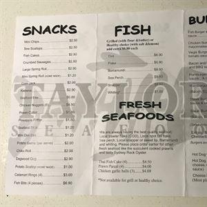 Taylors Seafood