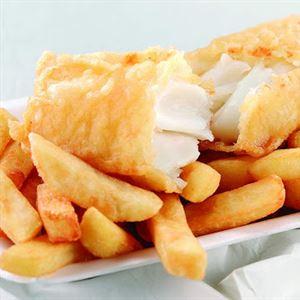 Brown street fish chips burgers