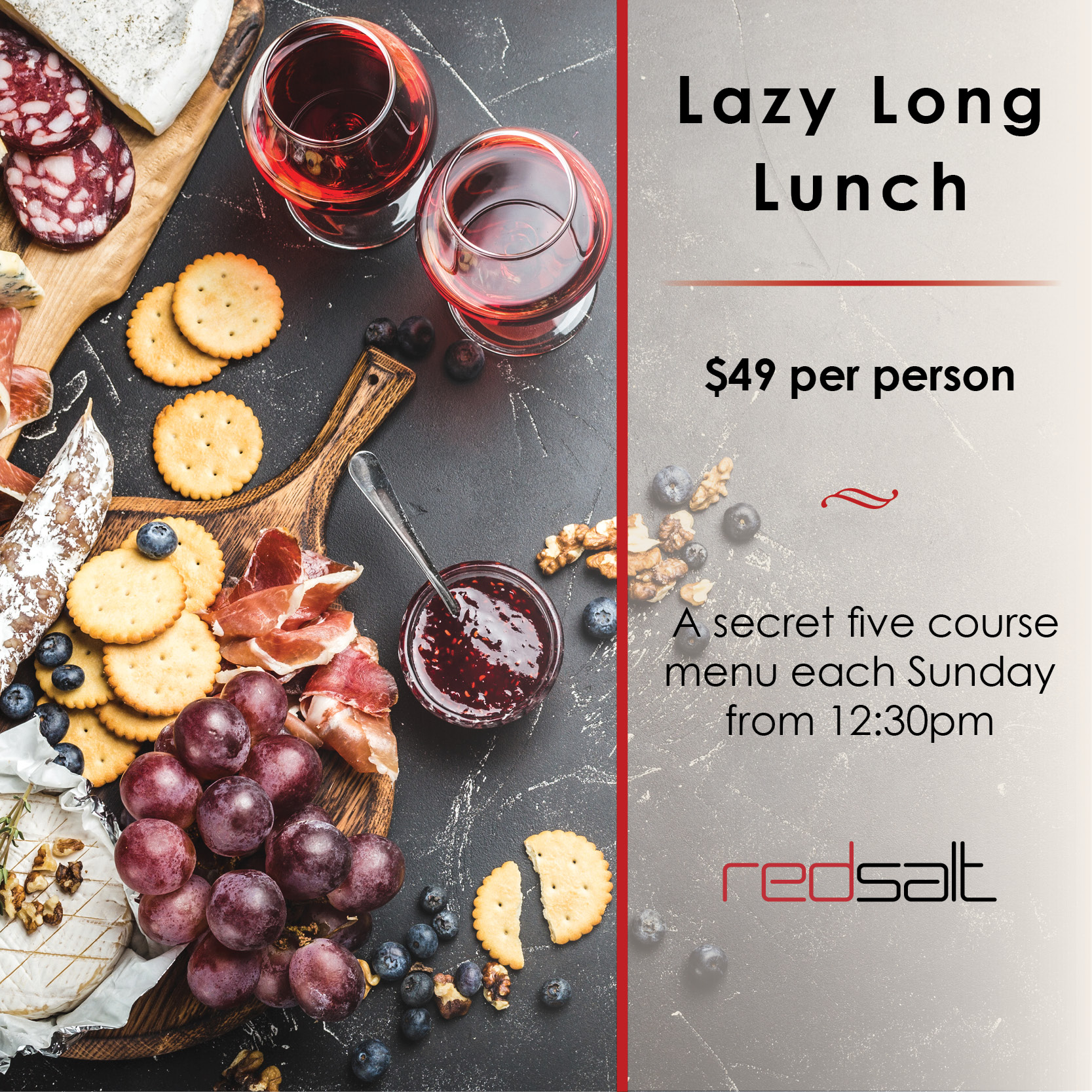 Click HERE to Book the Ultimate Lazy Lunch