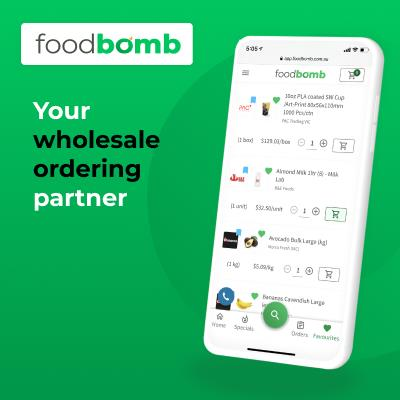Sign up today to simplify your restaurant's wholesale ordering with Foodbomb