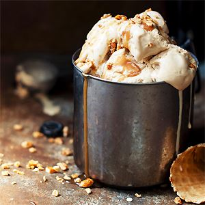 Burnt Caramel Bourbon Ice Cream