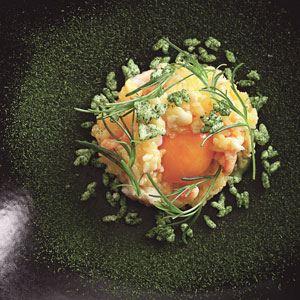 Spanner Crab and Egg Yolk Rice