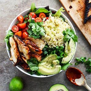 Honey Chilli Chicken Bowls with Lime Quinoa