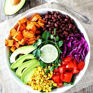 Sweet Potato and Black Bean Mexican Salad