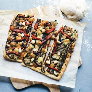 Mediterranean Vegetable and Macadamia Pizza
