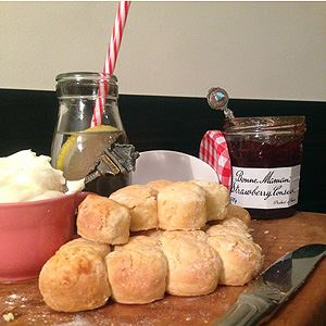 Lemonade Scones with Bonne Maman Strawberry Jam
