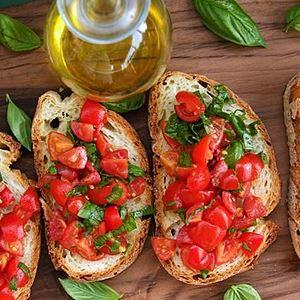 Tomato and Oregano Bruschetta