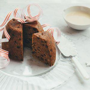 Macadamia Christmas Pudding with Marsala Custard