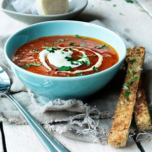 Tomato Basil and Bacon Soup