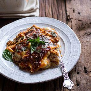 Italian Quinoa Risotto Lasagne Casserole with Truffle Oil