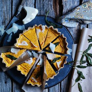 Pumpkin, Pecorino and Sage Tart