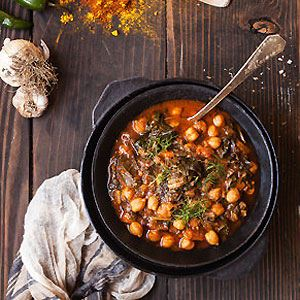 Moroccan Spicy Chickpea Soup
