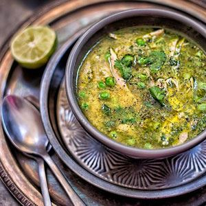 Peruvian Chicken and Coriander Soup