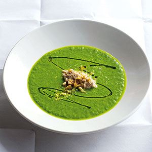 Green Garlic and Spinach Soup with Tarator - Chef Recipe by Simon Bryant