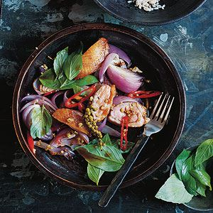Stir-fried Duck with Pepper and Thai Basil - Chef Recipe by Ross Dobson