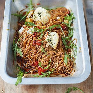 Spelt Spaghetti Vine Tomatoes and Baked Ricotta - Chef Recipe by Jamie Oliver