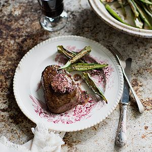 Scotch Fillet with Okra and Red Asian Shallot Butter - Chef Recipe by Luke Nguyen