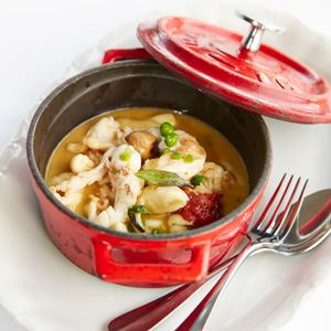 Moreton Bay Bug Tail, Gnocchi, Chestnut and Sage Cocotte - Chef Recipe by Romain Bapst