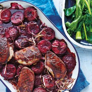Duck Breast with Ginger and Plums - Chef Recipe by Michele Cranston