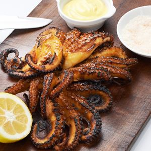 Char-grilled Octopus with John's Special Marinade - Chef Recipe by John T. Bailey