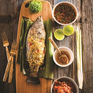 Steamed Whole Baby Barramundi with Chilli, Garlic and Lime - By Shayne Austin