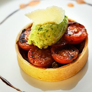 Tomato and Fennel Tart with Basil Mascarpone - Chef Recipe by John T. Bailey