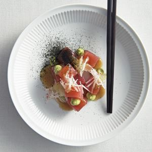 Tuna, Avocado, Wakame and Pickled Cucumber - Chef Recipe by Andrew McConnell