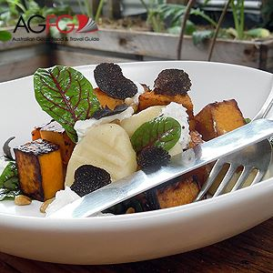 Gnocchi with Caramelised Pumpkin, Pine Nuts and Goats Cheese with Shaved Truffles - Chef Recipe by Shawn Sheather